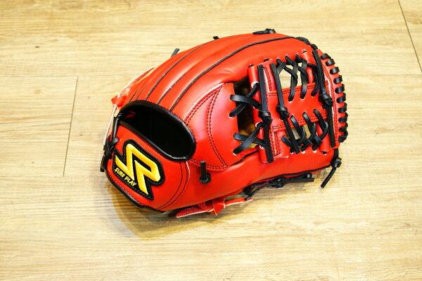 棒球世界 SURE PLAY 日本品牌 內野北美牛皮 棒壘手套 特價 血紅色 工字