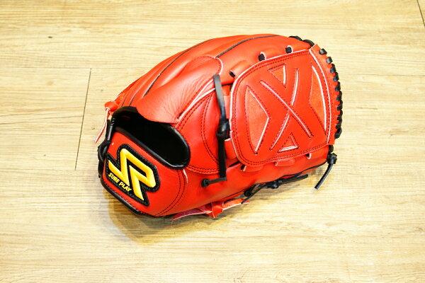 棒球世界 SURE PLAY 日本品牌 內野北美牛皮 棒壘手套 特價 血紅色 投手款式
