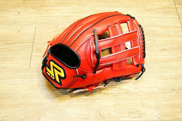 棒球世界 SURE PLAY 日本品牌 內野北美牛皮 棒壘手套 特價 血紅色 井字