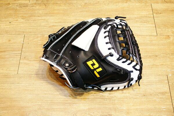 〈棒球世界〉全新DL 捕手手套/店家訂製款 / 送手套袋 黑白配色