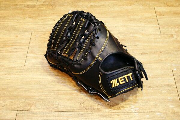 棒球世界 ZETT金標棒球一壘手套 特價 黑色款 反手用