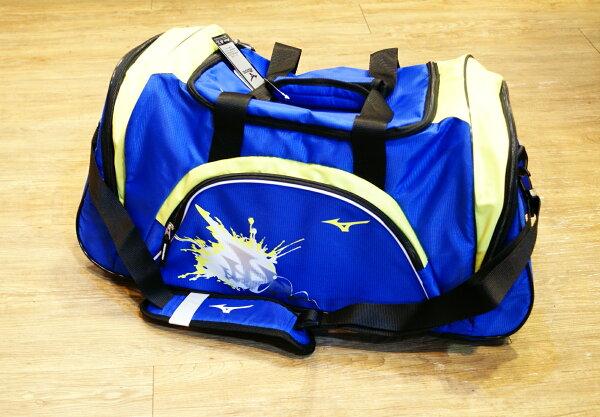 棒球世界全新 MIZUNO 15年下上半季新款大型側背袋 特價 藍螢光配色