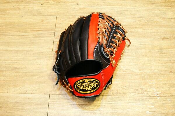 棒球世界 全新Louisvill Slugger 路易斯威爾TPX黑紅配色外野手手套 特價
