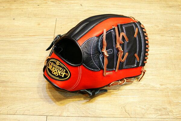 棒球世界 全新Louisvill Slugger 路易斯威爾TPX黑紅配色內野投手手套 特價