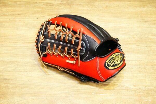 棒球世界 全新Louisvill Slugger 路易斯威爾TPX黑紅配色外野手手套 特價 反手
