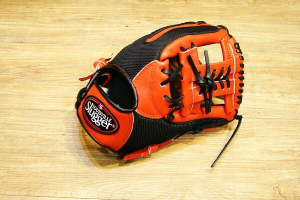 棒球世界 Louisvill Slugger 路易斯威爾TPX LS AIR布織布 內野工字棒壘球手套 特價 黑橘