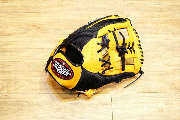 棒球世界 Louisvill Slugger 路易斯威爾TPX LS AIR布織布 內野工字棒壘球手套 特價 黑黃