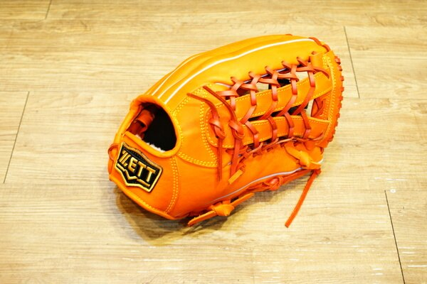 棒球世界 全新 ZETT本壘版新標訂製硬式牛皮外野手套 特價 12.5吋 限量日本最新球檔 橘色