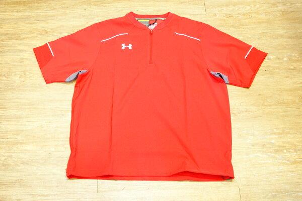 棒球世界 全新UNDER ARMOUR UA 短袖風衣外套 特價 大紅色