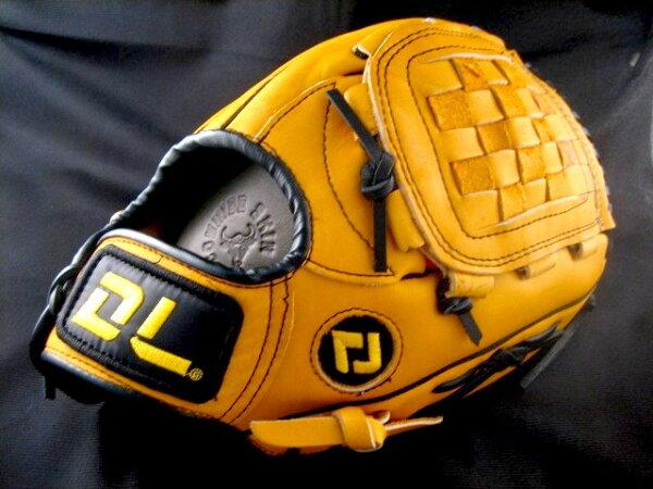 〈棒球世界〉DL 新款 DL450 真牛皮棒壘手套 黃色款