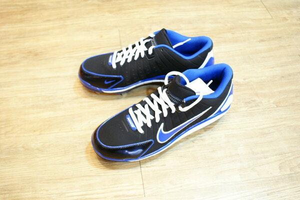 棒球世界 全新NIKE air huarache 2k4 固定釘棒球釘鞋 特價 黑藍配色