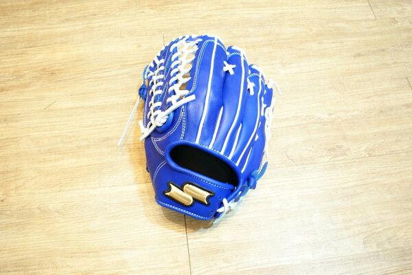 棒球世界 2012年 SSK金標棒壘硬式手套 特價 TRG31 藍色 外野手反手用