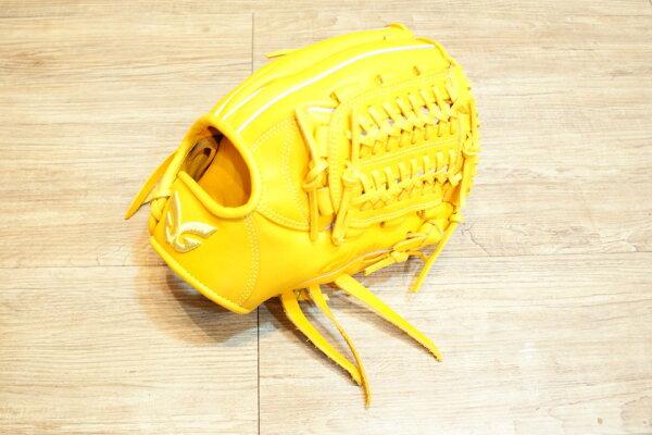 棒球世界 全新日本品牌Glom棒壘球手套 美國小牛皮 店家訂製款 特價 直刺金蔥標