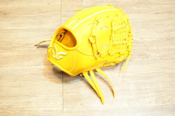 棒球世界 全新日本品牌Glom棒壘球手套 美國小牛皮 店家訂製款 特價 直刺金蔥標/