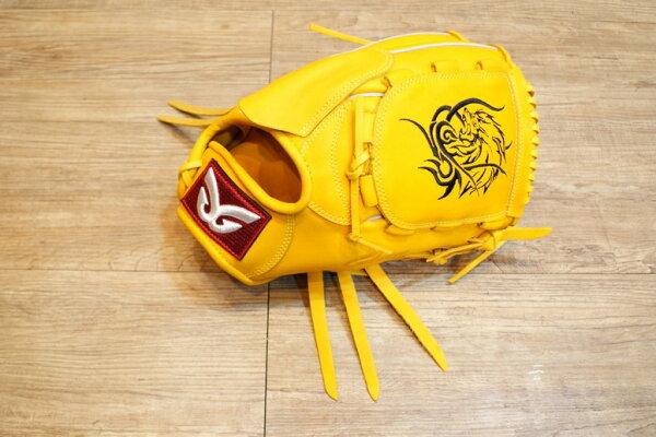 棒球世界 全新日本品牌Glom棒球投手手套 美國小牛皮 店家訂製刺繡款 特價