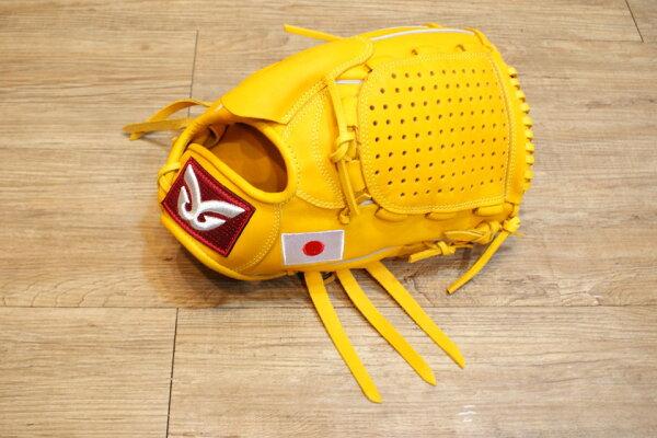 棒球世界 全新日本品牌Glom棒球投手手套 美國小牛皮 日本國旗訂製款 特價