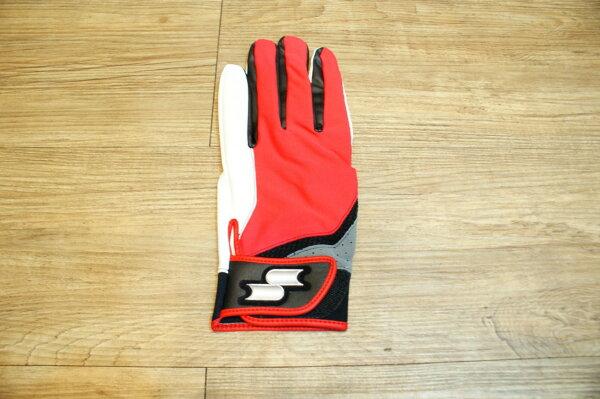 棒球世界 日本進口SSK 野球用 片手用 守備用手套 特價 紅白色