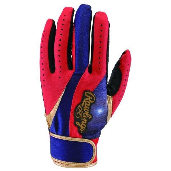 棒球世界全新Rawlings 打擊手套 藍紅配色 EBG4S04-RD/N