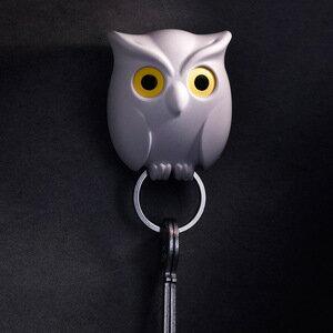 【媚麗九九精品百貨】貓頭鷹鑰匙圈 NIGHT OWL KEY HOLDER 顏色 白/咖