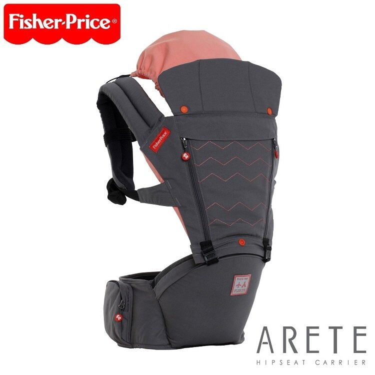 【Fisher-Price費雪】ARETE艾瑞特腰凳式揹巾(背巾)-大象灰 0