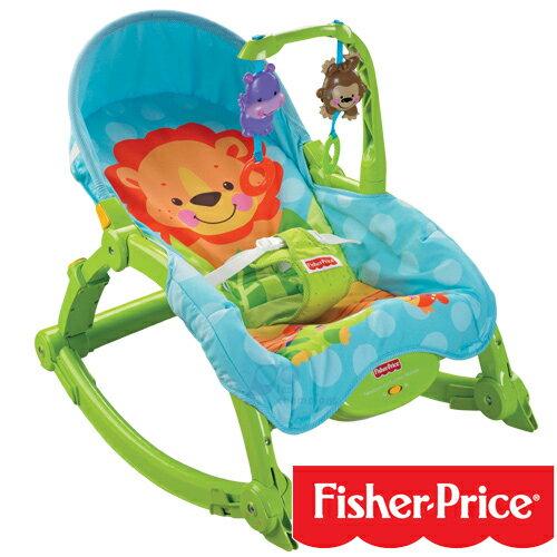 Fisher-Price費雪 - 可愛動物可攜式兩用安撫搖椅(躺椅) 4