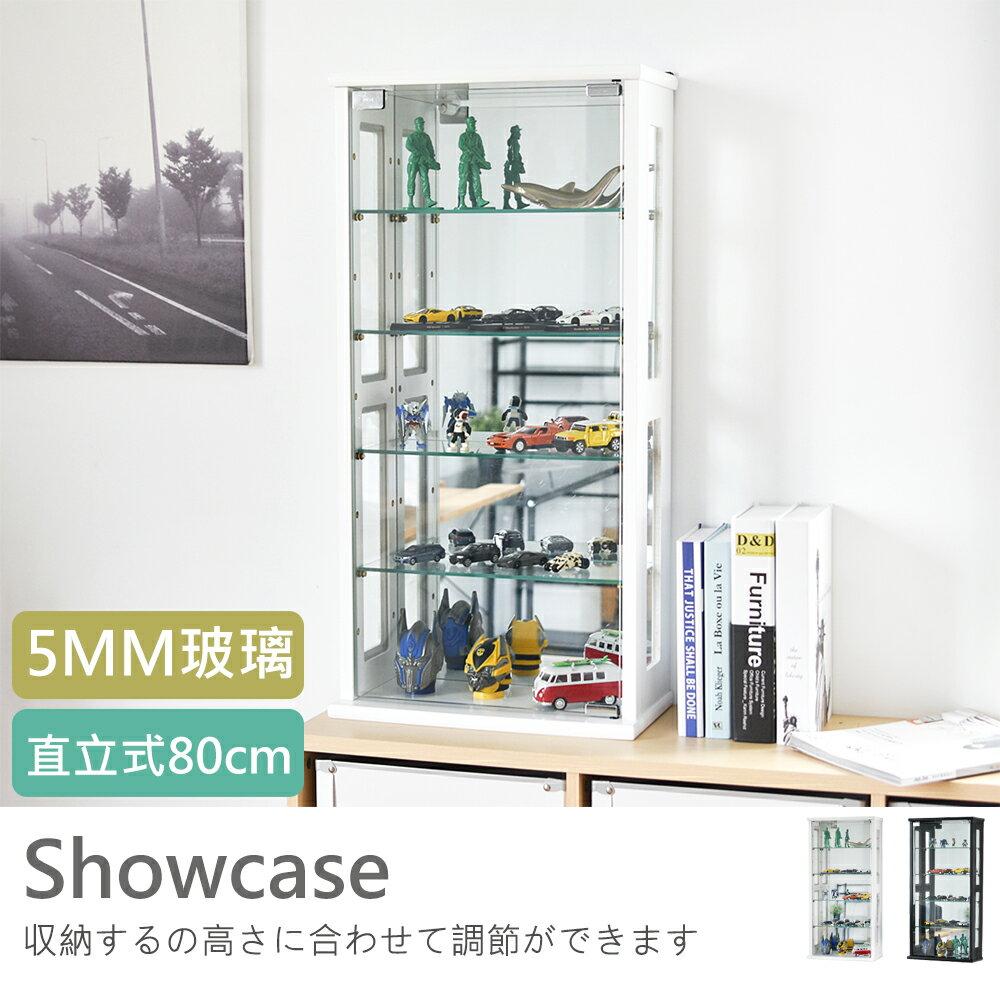 納櫃 展示櫃~X0022~直立式80cm玻璃展示櫃 外銷 款MIT 製 完美主義
