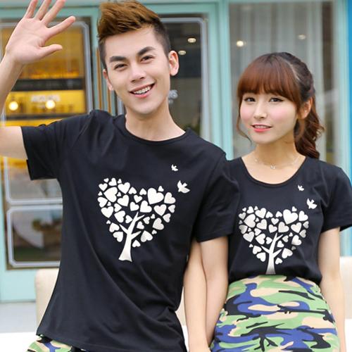 ◆ 出貨◆短袖. 配對情侶裝.客製化.T恤.班服. 情侶裝. 款.純棉短T.MIT 製.愛