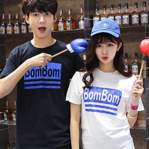 ◆ 出貨◆短袖. 配對情侶裝.客製化.T恤.班服. 情侶裝. 款.純棉短T.MIT 製.藍