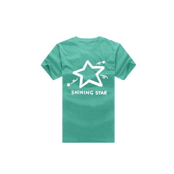 ◆快速出貨◆shining star塗鴉星.美式設計.T恤.班服.最佳情侶裝.純棉短T.MIT台灣製.短T【YC270】可單買.艾咪E舖 4
