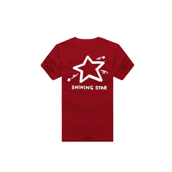 ◆快速出貨◆shining star塗鴉星.美式設計.T恤.班服.最佳情侶裝.純棉短T.MIT台灣製.短T【YC270】可單買.艾咪E舖 5
