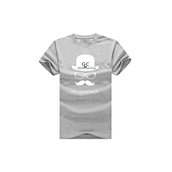◆快速出貨◆GC紳士帽子眼鏡鬍.獨家配對情侶裝.客製化.T恤.班服.最佳情侶裝.獨家款.純棉短T.MIT台灣製.班服【YC283】可單買.艾咪E舖 2