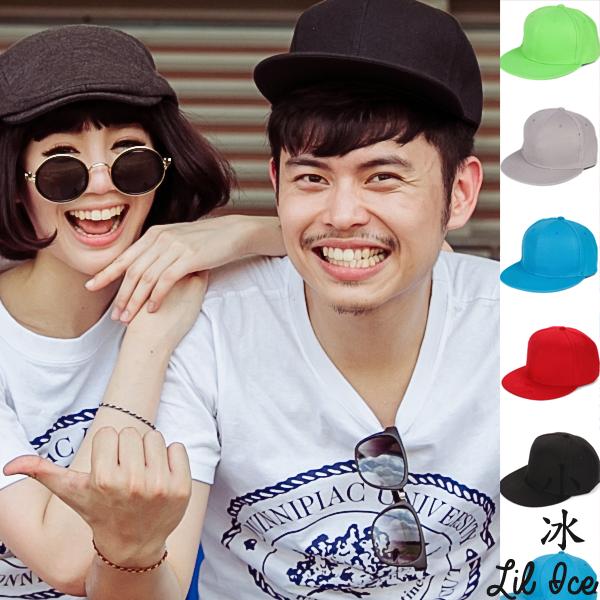 帽子.棒球帽.鴨舌帽.情侶帽.男女通用.韓版光版空白平沿帽【C0078】艾咪E舖.喜多小冰跑跳蹦