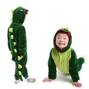 搖粒絨 睡衣 童裝 兒童睡衣 親子睡衣 KUSO小恐龍兒童套裝【C0786】艾咪E舖