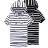 短T.造型短T.帽T.潮T.Tshirt.情侶裝.情侶T恤.黑白寬橫條抽繩連帽T【M50083】艾咪E舖.班服 0