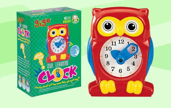 【智高 GIGO】貓頭鷹教學鐘 #8020 (款式隨機) ( 智高系列單筆消費滿千元,再送積木接合器or積木筆 )