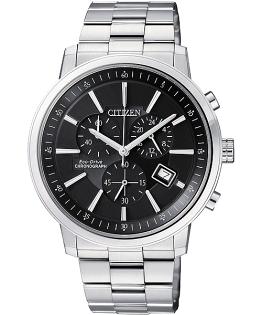 CITIZEN星辰AT0490-54E型男品味光動能計時腕錶/黑面41mm