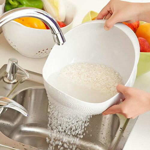 小號廚房洗菜籃 濾水篩 加厚洗米器  (不挑色)