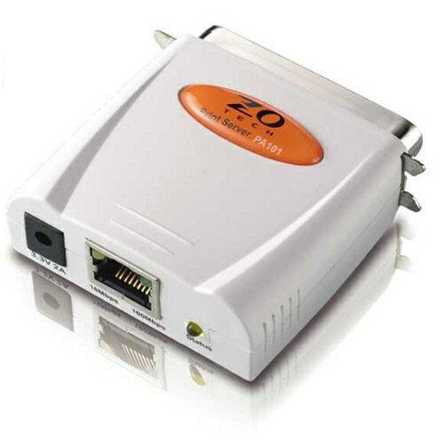 ZOT PA101 平行埠印表伺服器 10/100Mbps
