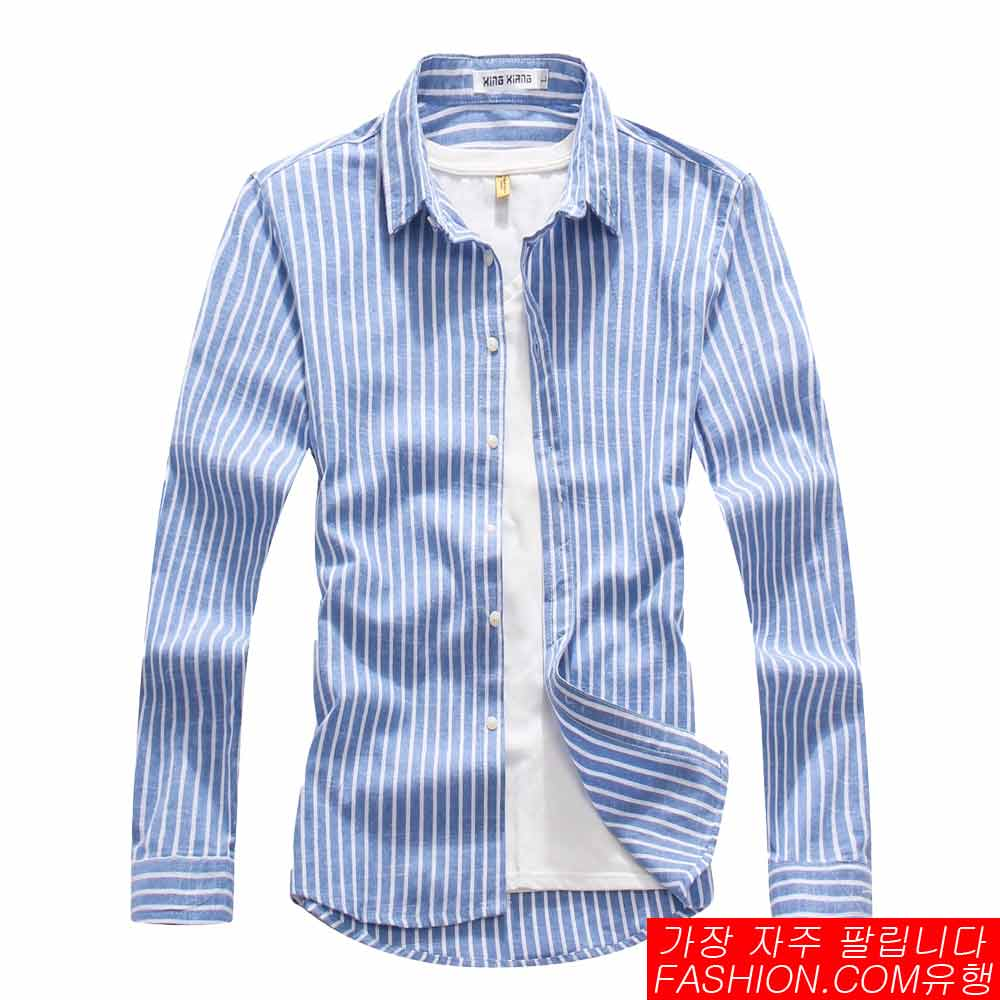 DITION 職人商務粗直條紋極簡長袖襯衫 1