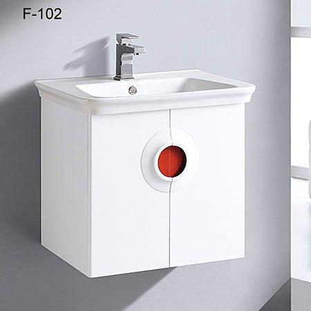 Cassido進口抗污面盆浴櫃組-F102,61CM『貨到付款免運費搬上樓』