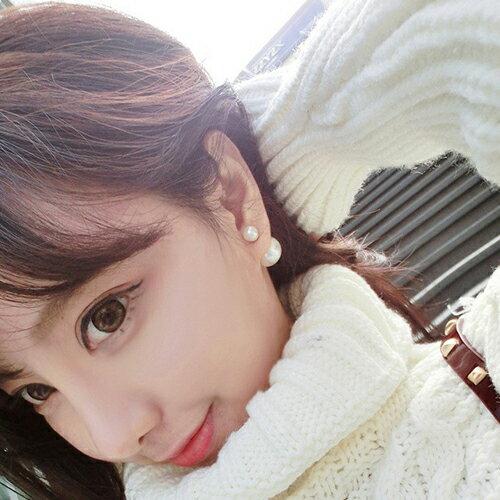 ☆BOBI☆02/01多色百搭必備款雙面珍珠耳釘耳環【TS284】 0