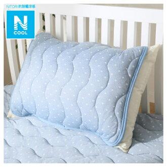 接觸涼感 枕頭保潔墊 N COOL 16 DOT BL
