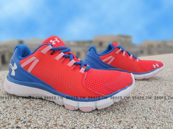 Shoestw【1258736-669】UNDER ARMOUR 慢跑鞋 Limitles 紅藍 女款 訓練