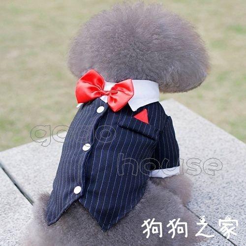 ☆狗狗之家☆結婚禮服 西裝 燕尾服 紅領結