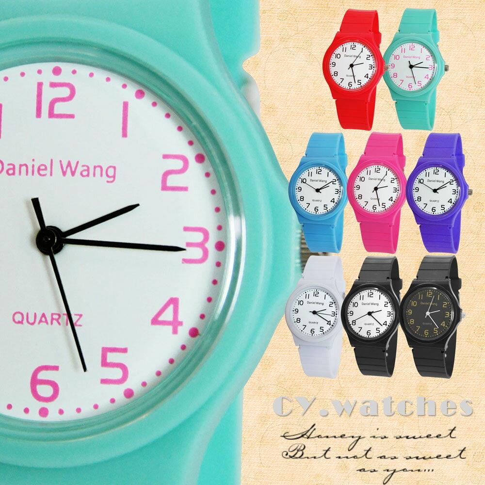 Daniel Wang 4118-日系 馬卡龍輕薄數字學生錶 7