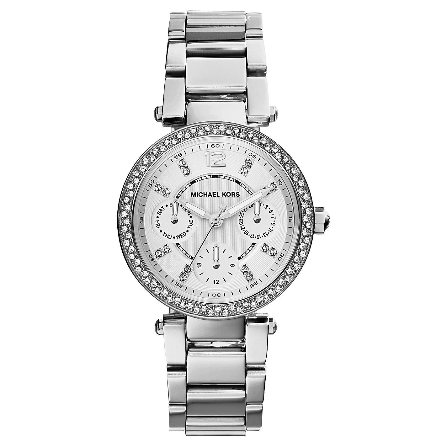 美國Outlet正品代購 MichaelKors MK  銀色陶瓷 水鑽 三環 手錶 腕錶 MK5615 2