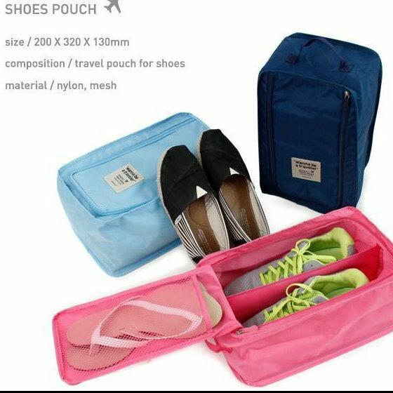 韓系 戶外旅行 用品防水防塵鞋袋鞋盒手提收納盒衣服整理袋鞋套 單售 ~  好康折扣