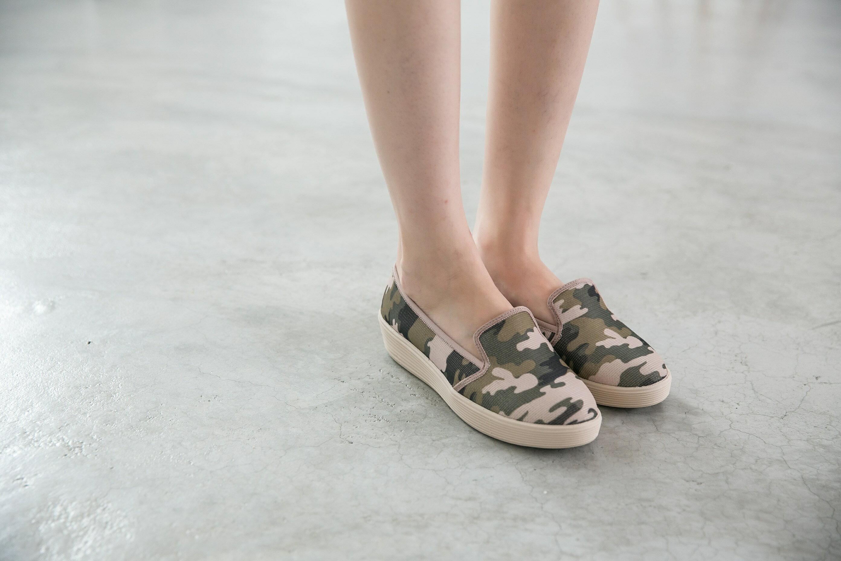 Aimez La Vie 超輕氣墊鞋|韓系迷彩真皮內裡樂福休閒鞋 1