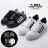 ★399免運★格子舖*【ABP-9008】MIT台灣製 經典黑白時尚 流行穿搭貝殼鞋 綁帶休閒板鞋 黑色/白黑 2色 0