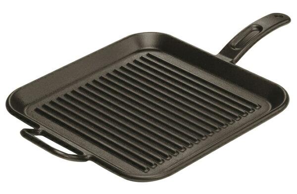 【鄉野情戶外用品店】 Lodge |美國|  平底牛排煎鍋/牛排煎盤 荷蘭鍋 鑄鐵鍋/P12SGR3 《12吋》